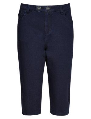 9bcf3bf9b2 Power Stretch Cropped Denim Jeans | Per Una | M&S