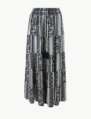 a6c06705e3 Printed Fit & Flare Maxi Skirt | M&S Collection | M&S