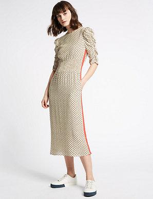 f5b6f5c99c86 Printed Half Sleeve Midi Dress | Limited Edition | M&S