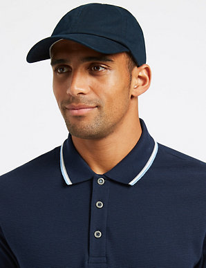 72e24fda Pure Cotton Baseball Cap | M&S Collection | M&S