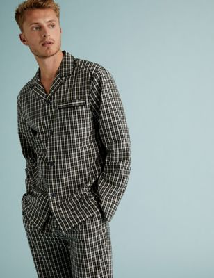 Pure Cotton Checked Pyjama Set Image 1 of 2