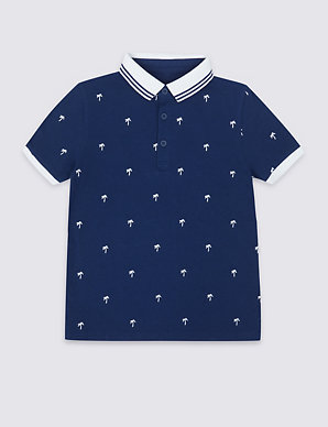 6e484487e Pure Cotton Embroidered Polo Shirt (3-16 Years)