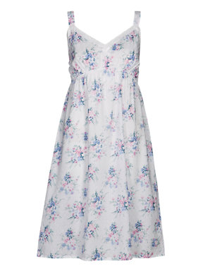 Pure Cotton Floral Chemise with Cool Comfort™ Technology