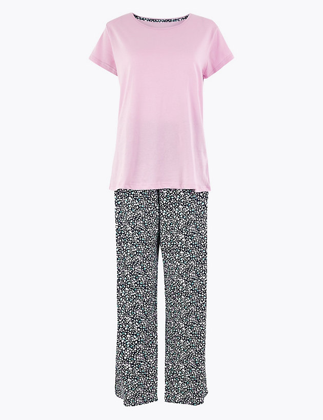 Pure Cotton Floral Print Pyjama Set
