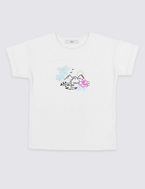 d3d3784850f Pure Cotton Hawaii T-Shirt (3-16 Years)