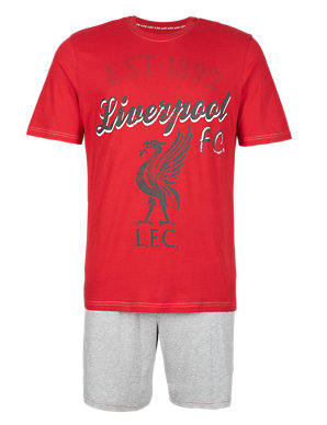 75a759aa729 Pure Cotton Liverpool Football Club T-Shirt   Shorts Set