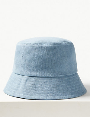 14f5ceb9 Pure Cotton Modern Bucket Sun Hat | M&S Collection | M&S