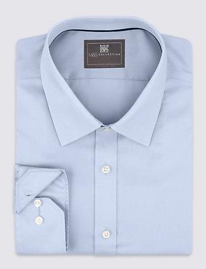 5dcf18637d9e Pure Cotton Non-Iron Twill Slim Fit Shirt | M&S Collection | M&S