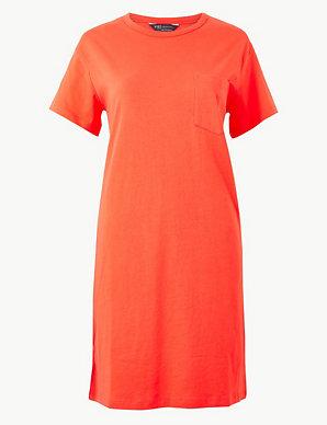 851b72e237 Product images. Skip Carousel. Pure Cotton Patch Pocket T-Shirt Dress