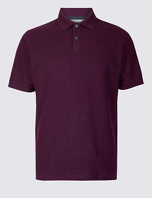 bf833eaeba Pure Cotton Pique Polo Shirt