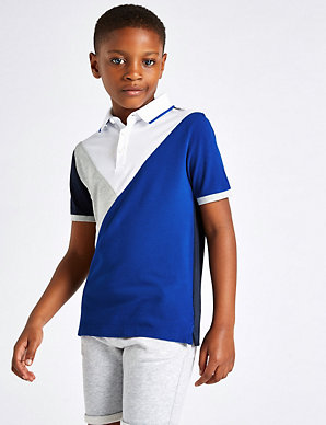 e5b793085 Pure Cotton Polo Shirt (3-16 Years)