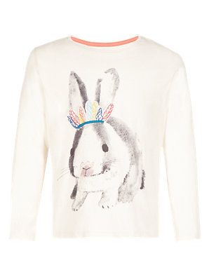 cfb9482e Pure Cotton Rabbit T-Shirt with StayNEW™ (1-7 Years) | M&S
