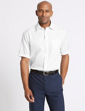 ab8daf17 Pure Cotton Regular Fit Non-Iron Twill Shirt | M&S Collection | M&S