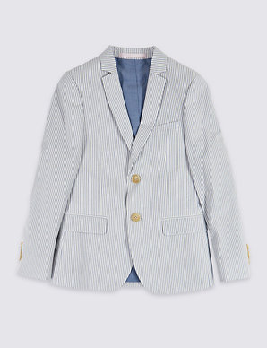 5418e78fb9 Pure Cotton Seersucker Jacket (3-16 Years) | M&S