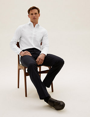 7f902388759d Pure Cotton Slim Fit Non Iron Twill Shirt | M&S Collection | M&S