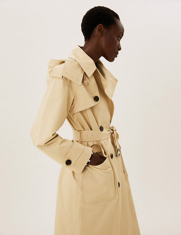Pure Cotton Stormwear™ Belted Trench Coat M&S