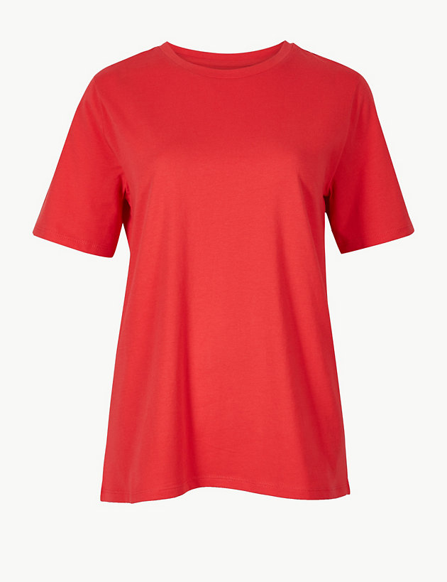 Pure Cotton Straight Fit T-Shirt