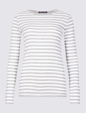 6fbf054fa Pure Cotton Striped Regular Fit T-Shirt | M&S Collection | M&S