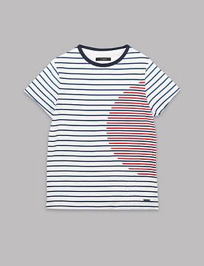 69838a6bdc Pure Cotton Striped T-Shirt (3-16 Years) | Autograph | M&S