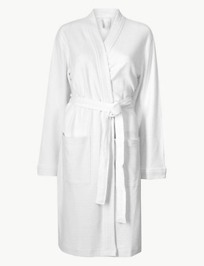 M/&S Marks /& Spencers SATIN gown WOMENS dressing gown night gown print kimono