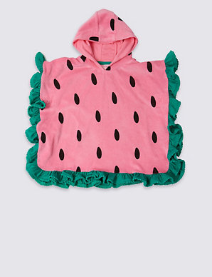 8fa149003 Pure Cotton Watermelon Poncho (3 Months - 7 Years) | M&S