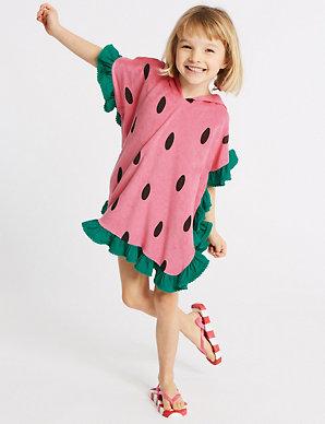 77da5479ea Pure Cotton Watermelon Poncho (3 Months - 7 Years) | M&S