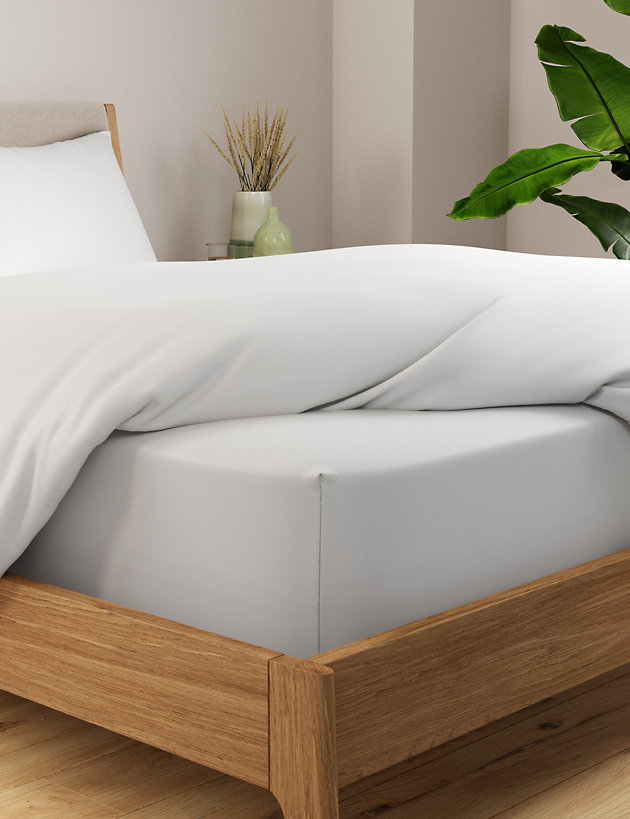 """White 400 Thread Counts 100/% Egyptian Cotton Extra Deep Fitted Sheet 16/"""" Depth"""