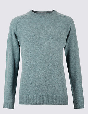 84147d36a3 Pure Extra Fine Lambswool Crew Neck Jumper