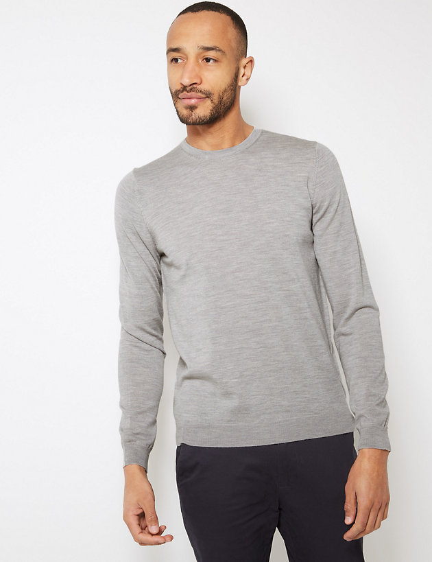 M/&S Mens V And Crew Neck  100/% Cotton Soft Knit Sweater Pullover Marks Spencer