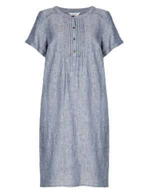 fresh styles fashion new list Pure Linen Chambray Shirt Dress