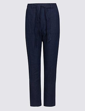 shop for original great deals 2017 sneakers for cheap Pure Linen Peg Trousers