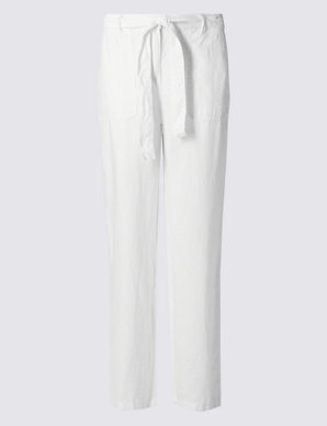 no sale tax beautiful and charming new authentic Pure Linen Wide Leg Trousers