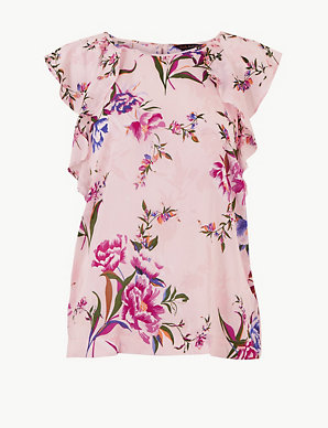 ae6e33957b Pure Modal Floral Frill Sleeve Pyjama Top | Rosie for Autograph | M&S