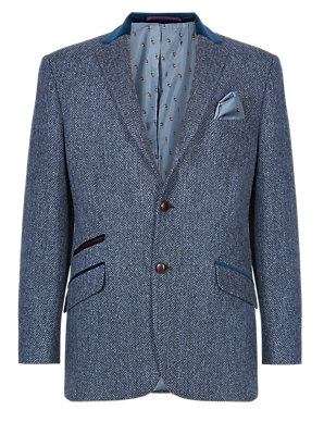get new real deal big selection Pure New Wool Harris Tweed Herringbone Jacket