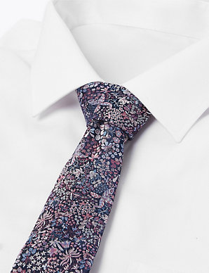 rrp £19.50 M/&S AUTOGRAPH Pure SILK Textured TIE ~ PURPLE