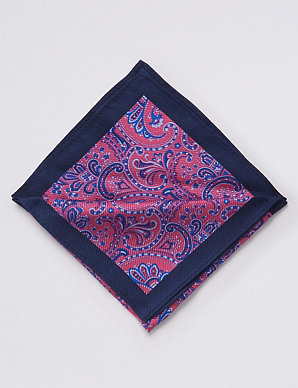 77132e0ae28d Pure Silk Paisley Print Pocket Square | M&S Collection Luxury | M&S