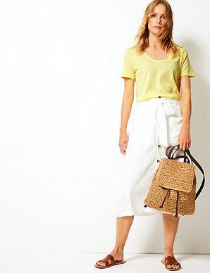 b55a448a Pure Supima Cotton Straight T-Shirt | Per Una | M&S