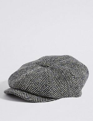 830f3c3f783d1 Pure Wool Baker Boy Hat