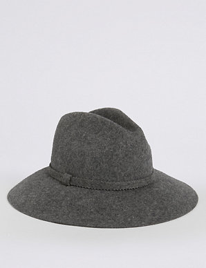 ccc23b4196929 Pure Wool Fedora Hat