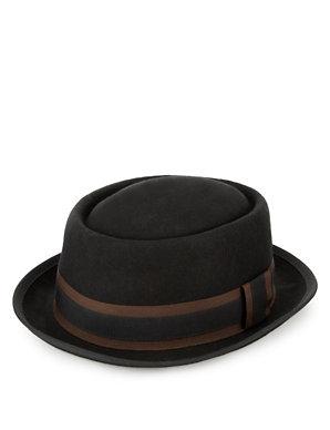 e2048d057f53a Pure Wool Felt Pork Pie Hat with Stormwear™