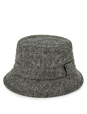 f92f176cde366 Pure Wool Herringbone Bucket Hat with Stormwear™