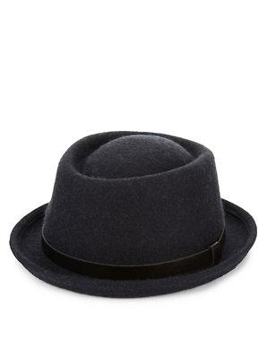 d599ca5451acb Pure Wool Pork Pie Hat with Stormwear™