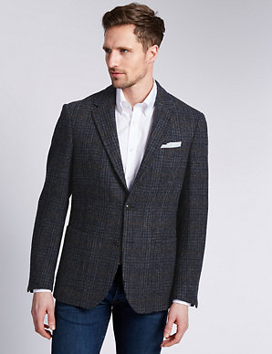 latest trends find workmanship classcic Pure Wool Tailored Fit Harris Tweed Jacket