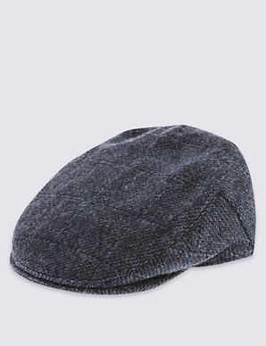 3942fd638 Pure Wool Thinsulate™ Flat Cap with Stormwear™