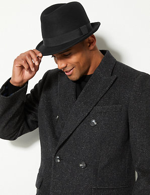 1cfe369a1586a Pure Wool Trilby Hat with Stormwear™