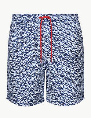 43c4aa80ec Quick Dry Geometric Print Swim Shorts