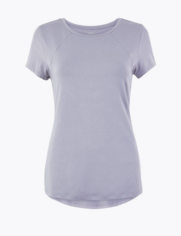 Quick Dry Round Neck Short Sleeve Top