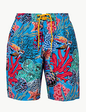 7998c31533 Quick Dry Turtle Print Swim Shorts | M&S Collection | M&S