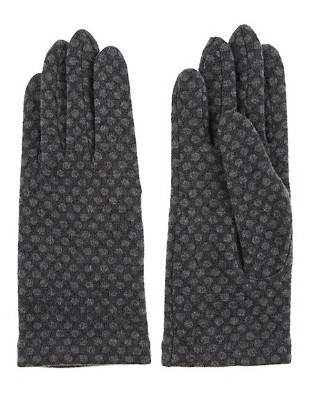 Wool Rich Spotted Gloves