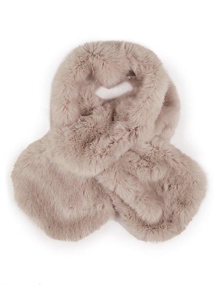 Faux Fur Medium Slot Through Scarf